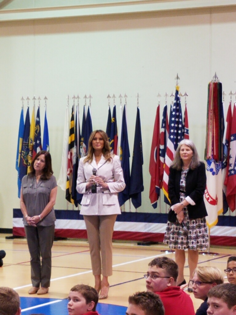 Melania Trump and Karen Pence visit Fort Bragg