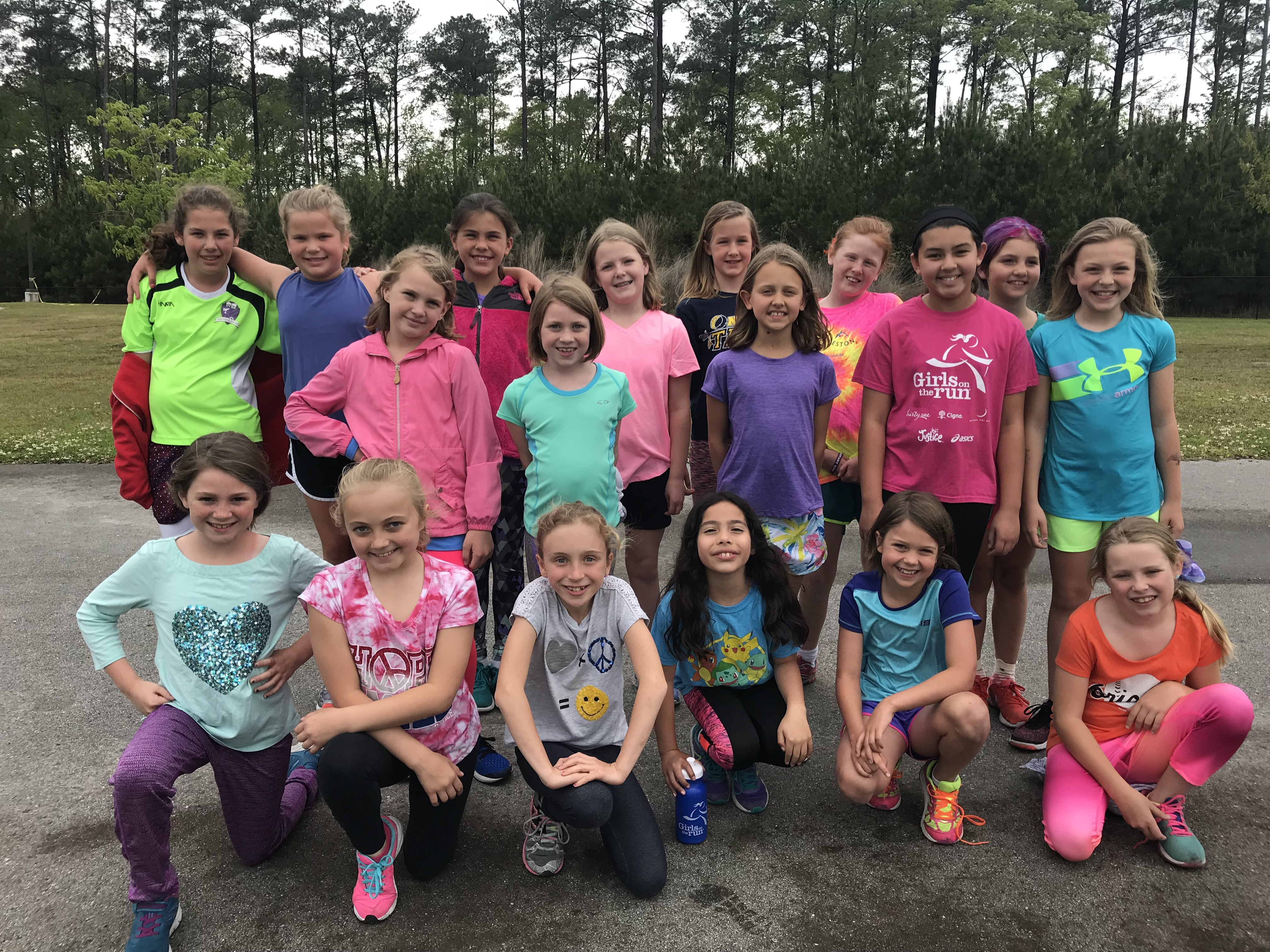 The Girls on the Run team consisted of 3rd-5th grade girls.