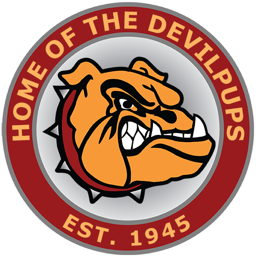 Lejeune HS Mascot - right click to download lo-res png - click to go to home page