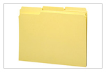 yellow file folder