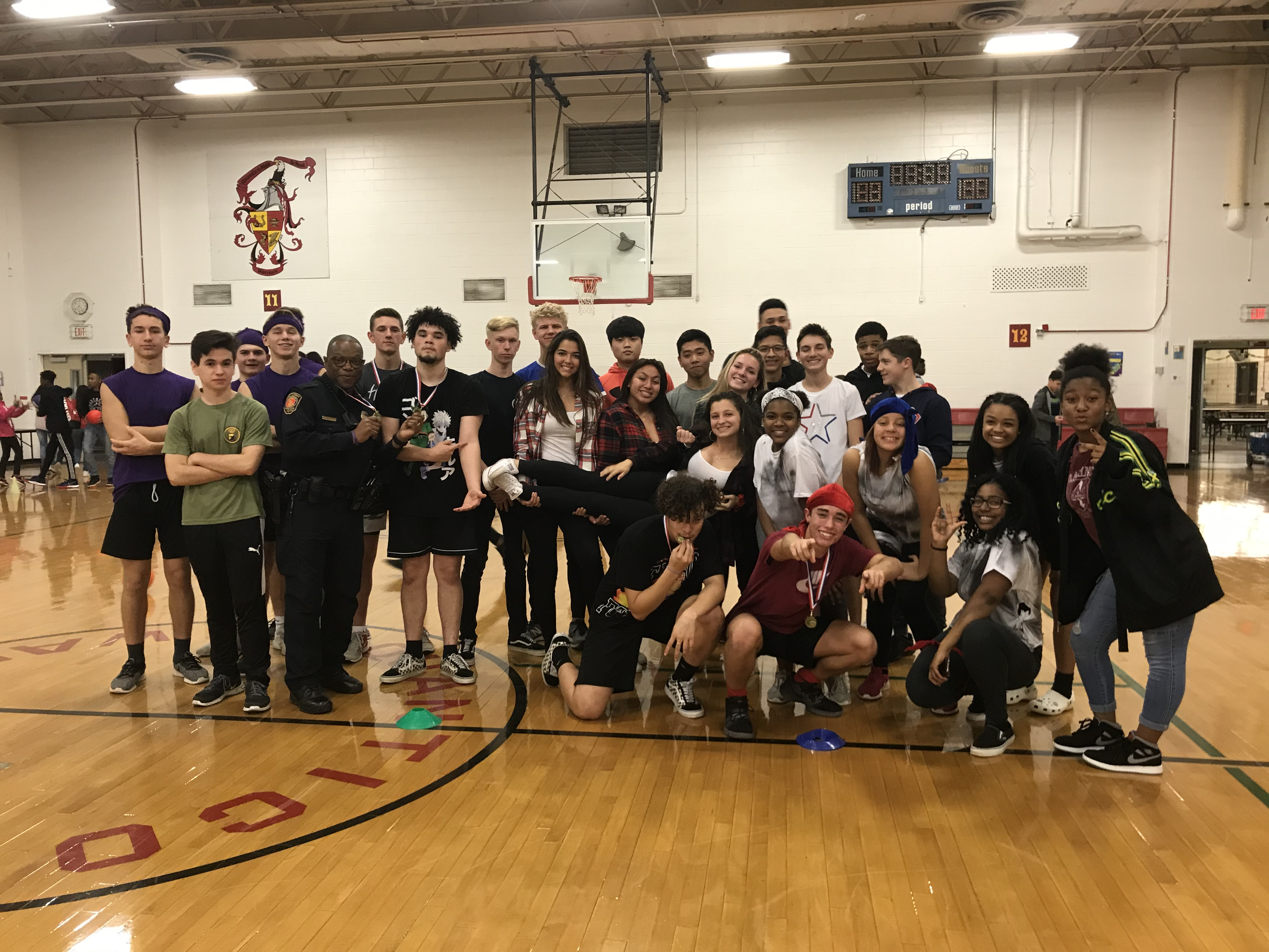 QMHS SCA Sponsors Jingle Ball Dodgeball Game