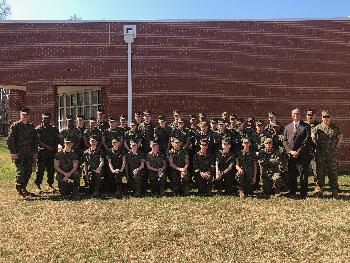 QMHS MCJROTC cadets compete in marksmanship at Halsey Academy in New Jersey