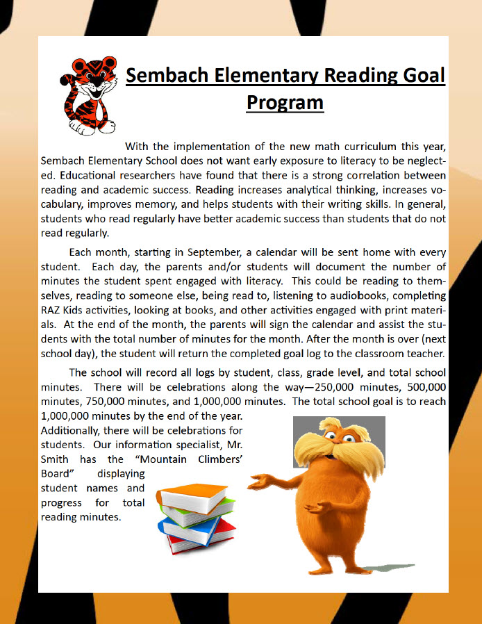 Details of Reading Goal Program