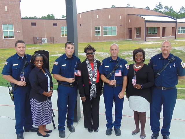 Linden Oaks First Responders, including Capt. Simmons, Dr. Brown, Dr. Carr, and Mrs. Evans.