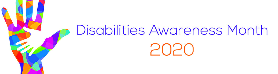 2020 Disabilities Awareness Month Banner