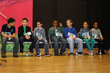 Seven students advance in final rounds of the Schweinfurt Elementary School Spelling Bee. Only one would win and advance to European Spelling Bee competition in Ramstein this March.