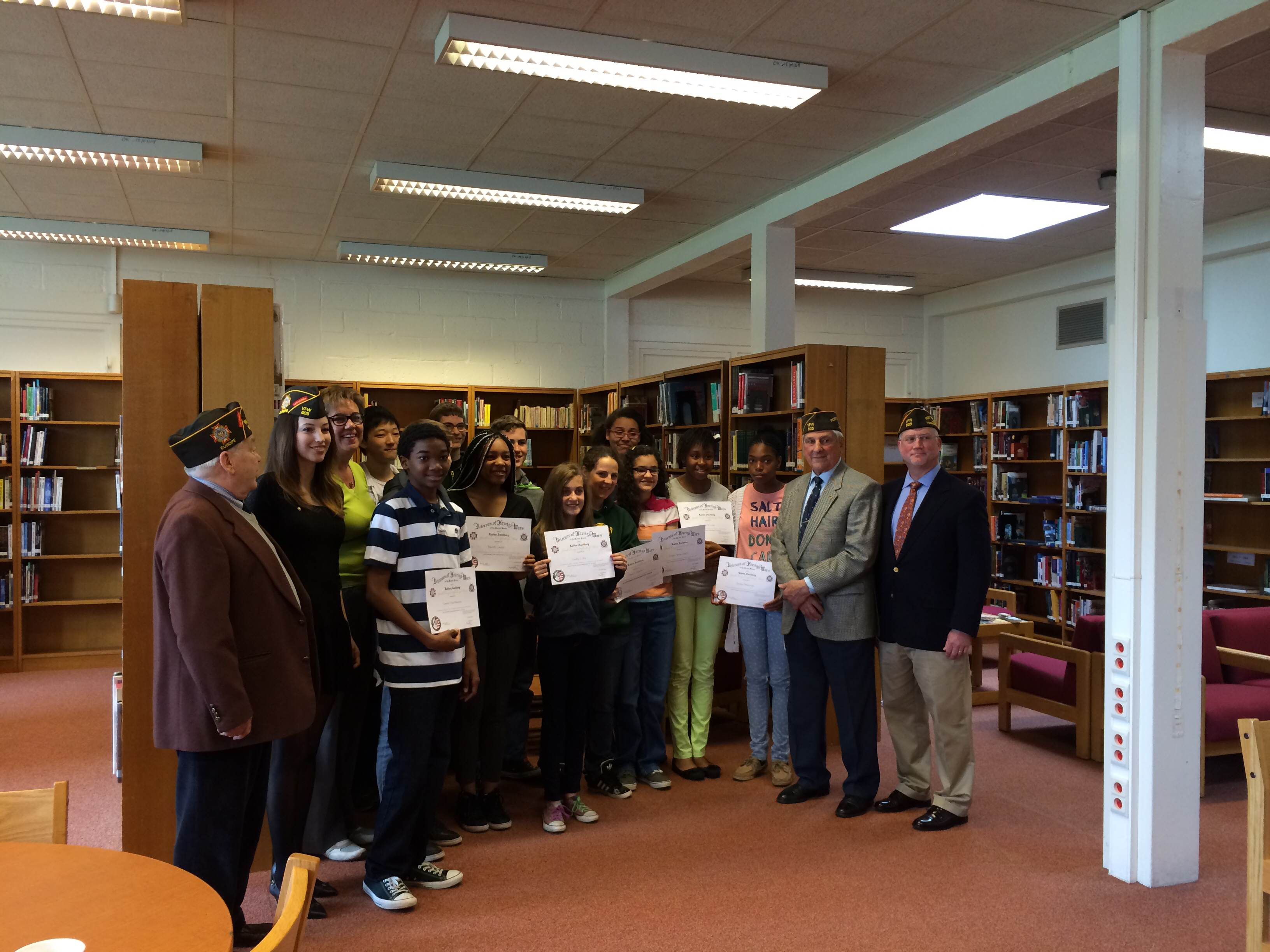 Avvid students recognized by VFW