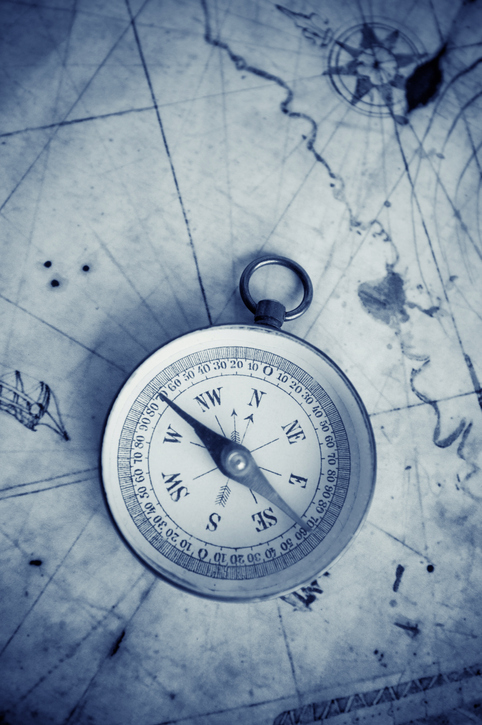 compass and chart