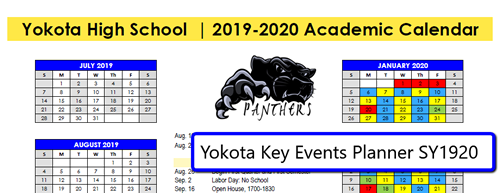 Key Events Planner SY1920