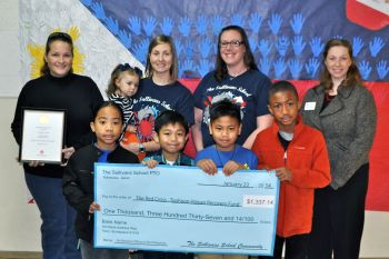 Sullivans students present check to American Red Cross