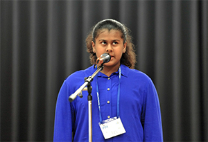 Selomi Dayaprema, 6th grade student at Vicenza Middle School.