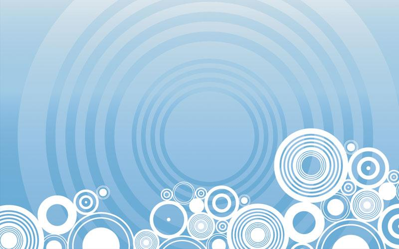 abstract circles light blue