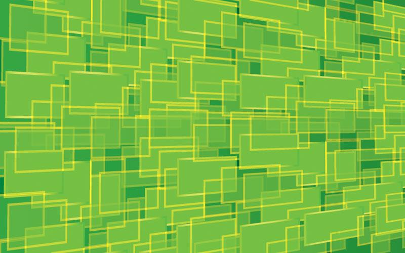 abstract green rectangles